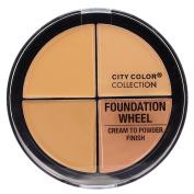 City Colour - Foundation Wheel, Cream to Powder Palette - Medium