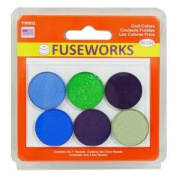 FUSEWORKS 90 Coe Cool Colours 2.5cm Fusible Rounds Circles