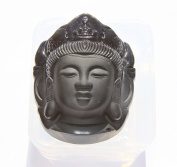 Clear silicone Amulet Pendant Moulds, Kwan-yin Pendant Necklace Amulet Pendant,Size 49x37mm. (3-36)Free USA shipping!