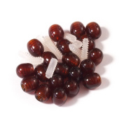Screw Clasp 10 pcs Dark Cognac for Jewellery Making of Baltic Amber Necklaces and Bracelets
