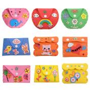 Diamondo DIY 3D EVA Foam Sticker Cartoon Mini Wallet Purse Kids Child Craft Toy Kits Cute Coin Wallet with Random Colours & Styles