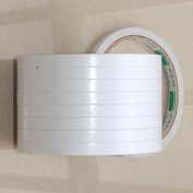 Double Sided Super Strong Adhesive Tape, 8 mm, White Colour , A set of 5 rollls