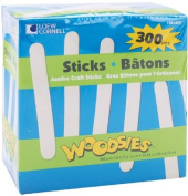 Woodsies Jumbo Craft Sticks-15cm 300/Pkg by Loew-Cornell