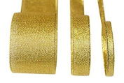 Metallic Lurex Ribbon 1cm Gold 25 Yards one roll