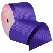 Regal Purple Grosgrain Ribbon 5.1cm . x 3.7m Decorative Ribbon - Great for Any Occasion!