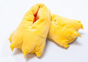 Halloween Winter Warmth Household Warmth Paw Plush Slippers,Yellow Large