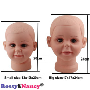 Rossy & Nancy Big Children Mannequin Manikin Head for Wig Hats Display Show Stand Model Mannequins