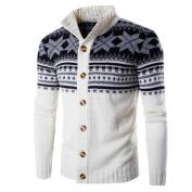 Mens Sweater,Neartime Men's Winter Jacket Warm Tops Wool Shirt