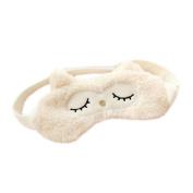 Ayygiftideas Cartoon Owl Sleeping Eyeshade Breathable Blinder Eye Cover Gel Eye Mask
