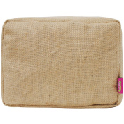 Juco/Burlap Large Cosmetic Travel Pouch