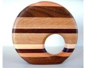 Decorative Wood Bud Vase, Bud Vase