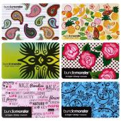 BMC Cute Colourful Mixed Pattern 6pc 1mm Thin Nail Stamping Scraper Card Set - Tropicana Charms