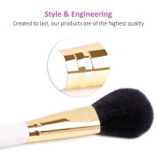 DUcare 8Pcs Travel Makeup Brush Set Goat Synthetic Professional Foundation Eyeshadow with Bags