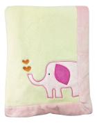 Smiggles Pink Elephant Baby Blanket