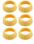 (6 Collars) MEDELA Bottle Nipple Collars Rings New! for slow or medium flow Wide Base