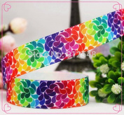 FunnyCraft 10 Yards 22Mm Cartoon Rainbow Colours Series Printed Grosgrain Ribbon Diy Handmade Materials Wedding Gift Wrap