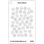 That's Crafty Dinky Stencil 7.6cm x 12cm -Screwheads