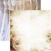 Wedding Day Wedding Lace Paper 12x12 by Reminisce - 5 Sheets