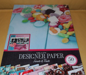 Colorbok Designer Paper - Sweets & Treats 22cm x 28cm ; 50 Sheets