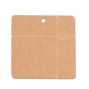 G2PLUS 100 PCS Square Hang Tags with String, Kraft Paper Blank Gift Tags with 30m Natural Jute Twine