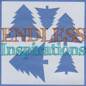 Endless Inspirations Original Stencil, 15cm x 15cm , Christmas Trees