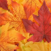Artificial Fall Maple Leaves in a Mixture of Autumn Colours