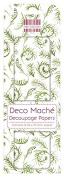 FEDEC192 DECO MACHE PAPER-GRN SPRIG