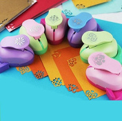 Since Embossing DIY Corner Paper Printing Card Cutter Scrapbook Shaper large Embossing device Hole Punch Kids Handmade Craft gift ,Random Colour and Design