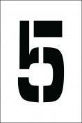 National Marker Corp. PMC4-5 Stencil, Number 5, 10cm