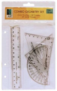 Art Alternatives - 4-Piece Combo Geometry Set - Combo Geometry Set w/ 15cm Ruler