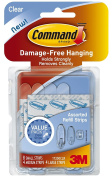 Command Assorted Refill Strips, Clear, 16-Small, 8-Medium, 8-Large