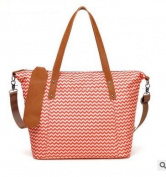 CL Nappy Bag Travel Backpack Multi-function Bag with Baby Changing Pad - Orange stripes