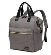 CL Nappy Bag Travel Backpack Shoulder Bag with Baby Changing Pad - Grey