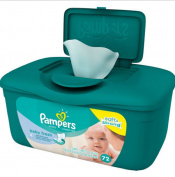 Pampers Baby Fresh A great, refreshing clean every time SoftGrip Texture Lotion Pure Water Unise Baby Wipes 72 Sheets