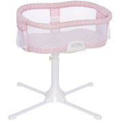 Halo - Swivel Sleeper Bassinet, Premiere Series - Rose Leaf with Pink 100% Cotton Fitted Sheet