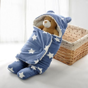 Baby Cute Sleep Bag Baby Swaddle Star Seperate Legs Stroller Bed Swaddle Baby Blanket Wrap Bedding For Autumn and Winter Aooking