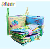 Luxbody(TM) New baby's cognitive cloth book 4 pcs/ lot ( animals/ Numbers/ nature/ letters) baby early education toys books WJ080