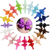 Baby Headbands 20Pcs Baby Girls Toddlers Kids Children Grosgrain Ribbon Boutique Headbands with 10cm Hair Bow