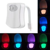 LED Toilet Bathroom Night Light Human Motion Activated Seat Sensor Lamp 8 Colours