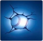 Baseball Sport 3D Wall Deco Night Light