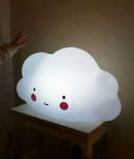 Vivian Cute Cloud Face LED Night Light Portable Baby Children Bedroom Nursery Night Lamp