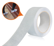 Marsway Safety Non-Slip Tape 4.9m Length x 2.5cm Width Removable Clear Adhesive Sticker for Stairs, Ramps, Treads and Other Surfaces