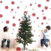 OVERMAL Wall Window Stickers Angel Snowflake Christmas Xmas Vinyl Art Decoration Decals