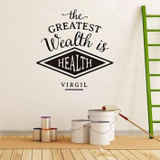 The Greatest Wealth Is Health Virgil Inspirational Wall Sticker Decal Quote