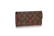 LV Monogram Canvas Hot Pink Emilie Wallet M41943