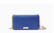 Kate Spade New York Alexander Avenue Ostrich Embossed Isabeli Crossbody, Lake Blue
