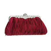 Women's Party Bag Satin Pleated Evening Clutch Bags Cocktail Party Dress Handbag