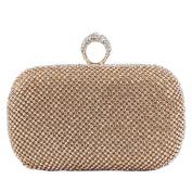 Hflove Womens Rhinestone Clutch Bag Ladies Evening Bag Shoulder Bag with Chain