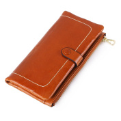 Women Unique Design Genuine Leather Wallets Lady Cowhide Zipper Purse