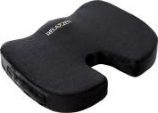 Relaxzen 60-288605G Gel Enhanced Coccyx Support Seat Cushion with Memory Foam, Black